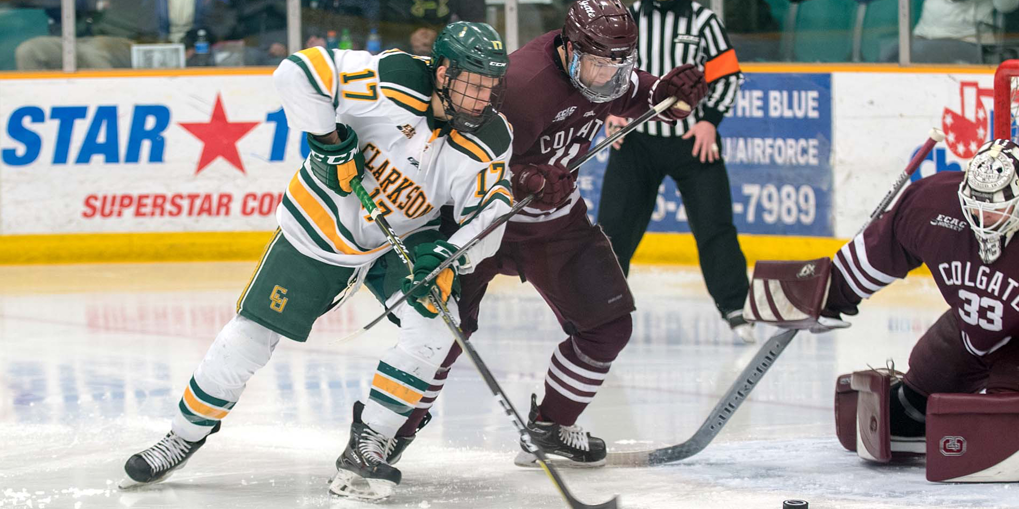 Clarkson Settles for Tie With Colgate
