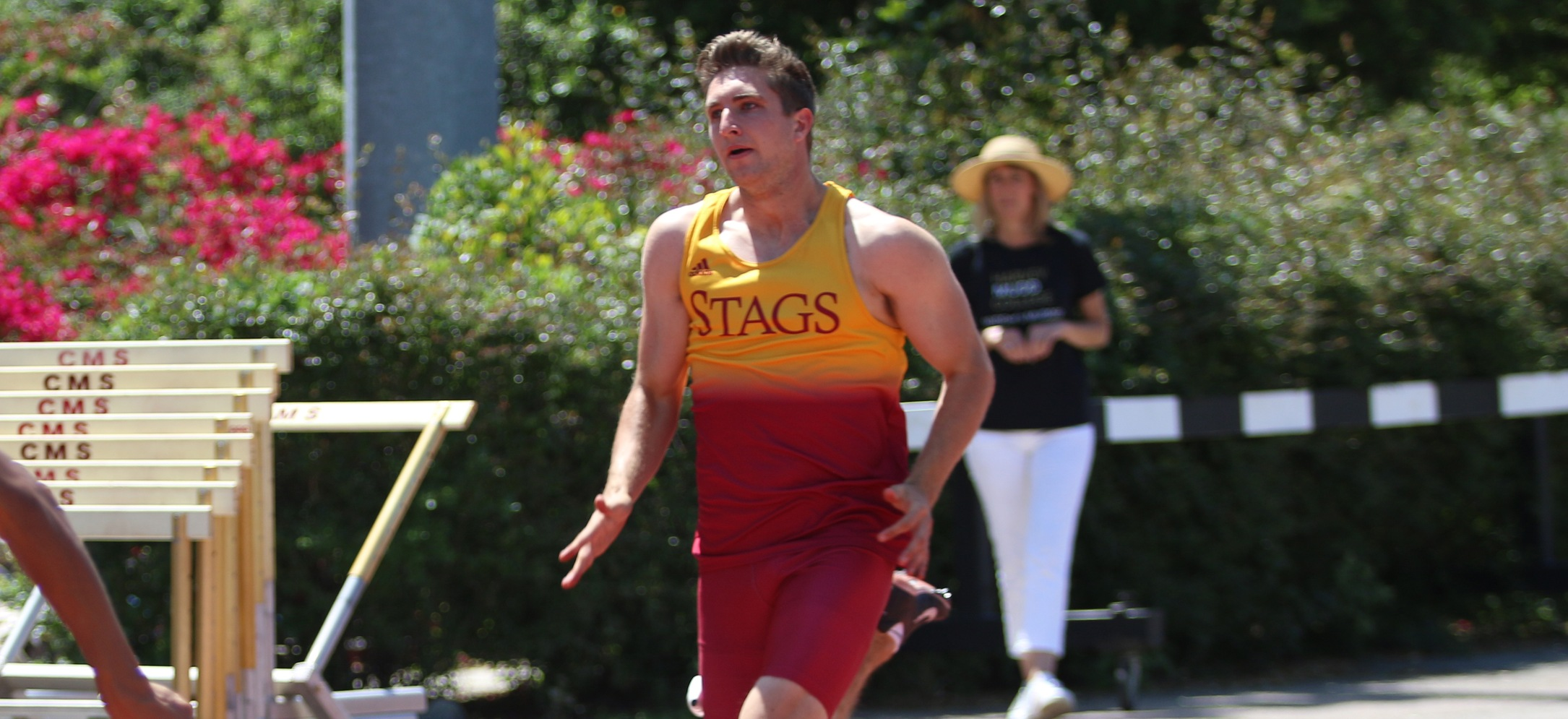 Connor Schulz (CMC) placed fifth in the decathlon. (photo credit: Alisha Alexander)