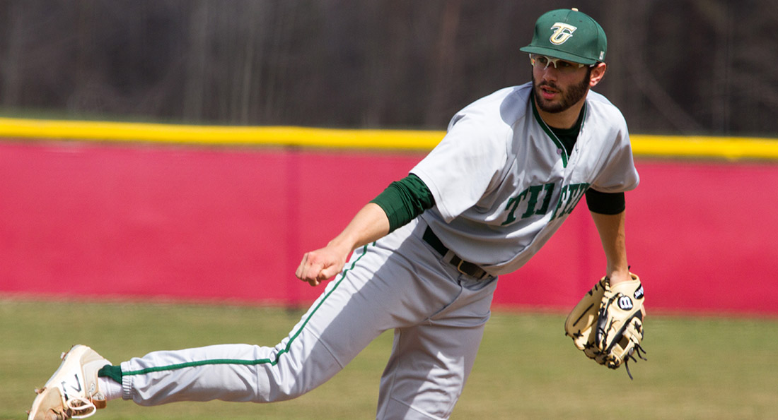 Ricky Krieger pitched 7 1/3 innings for his 5th win of the season, and Tiffin's first ever GLIAC Tournament win.