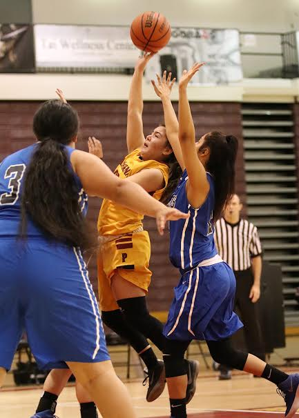 Elise Ortega was a key factor in the Lancers win over Cerritos, 61-53, Friday night.