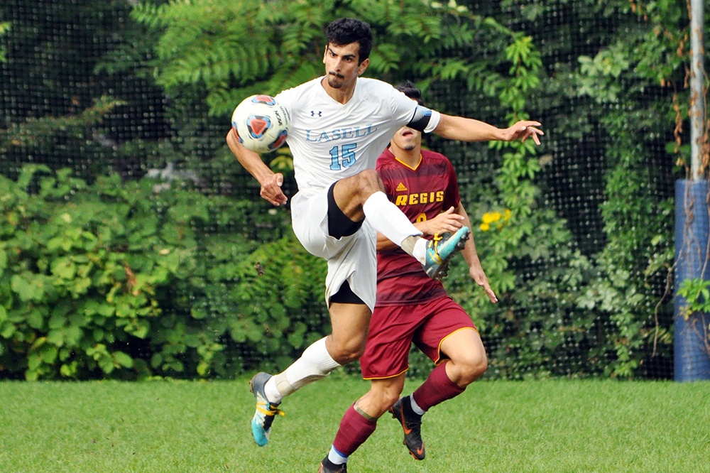 Lasell Men's Soccer plays to draw against Regis
