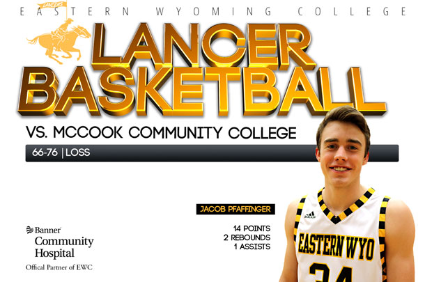 Eastern Wyoming College Lancer Basketball team vs. McCook Community College Basketball team