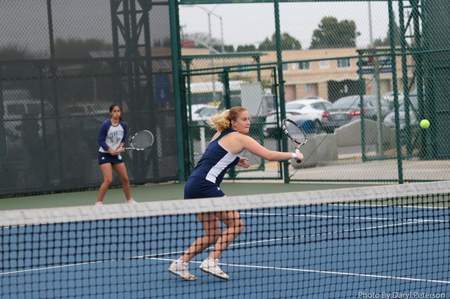 Moa Lindstrom and Alba Gonzalez teamed up for a doubles win over Santa Monica