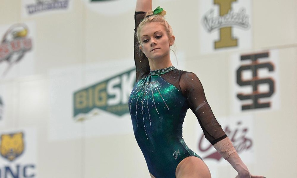 GYMNASTICS POSTS SEASON HIGH 195.400, EARNS PAIR OF VICTORIES