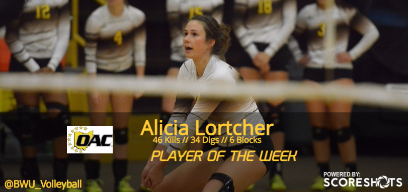 Lortcher Garners Second Career OAC Volleyball Weekly Honor
