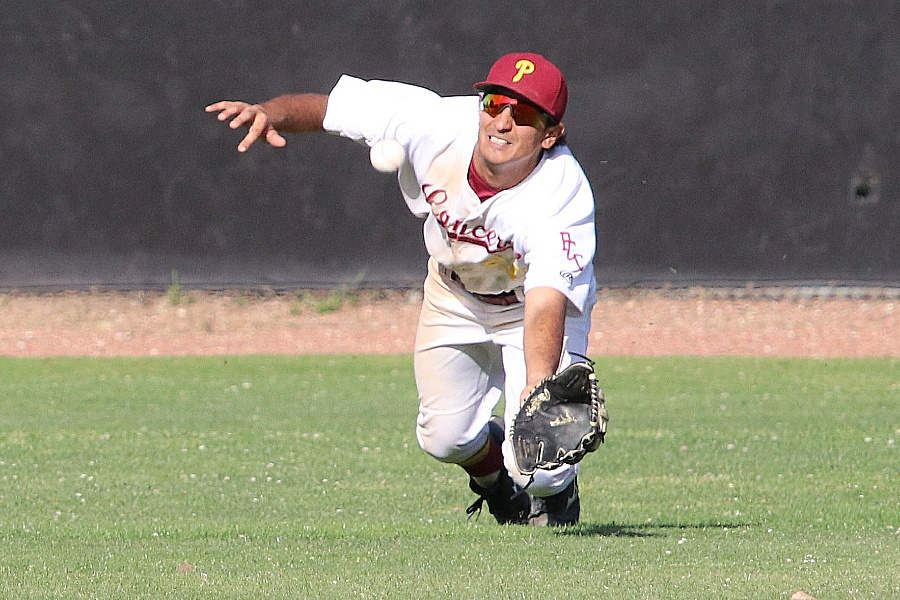 John Bicos is a returning All-South Coast Conference centerfielder for the Lancers baseball team.