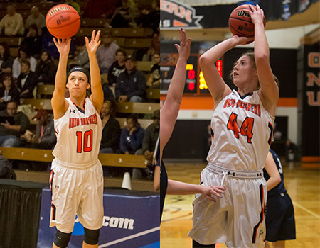 Britt Lauck, Amy Bullimore named All-America in Women's Basketball for 2016-17 season