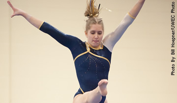 Behmer Breaks School Record as Gymnasts Fall to Whitewater
