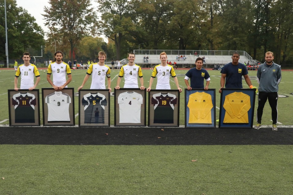 Photo for Golden Eagles top Wolverines on Senior Day