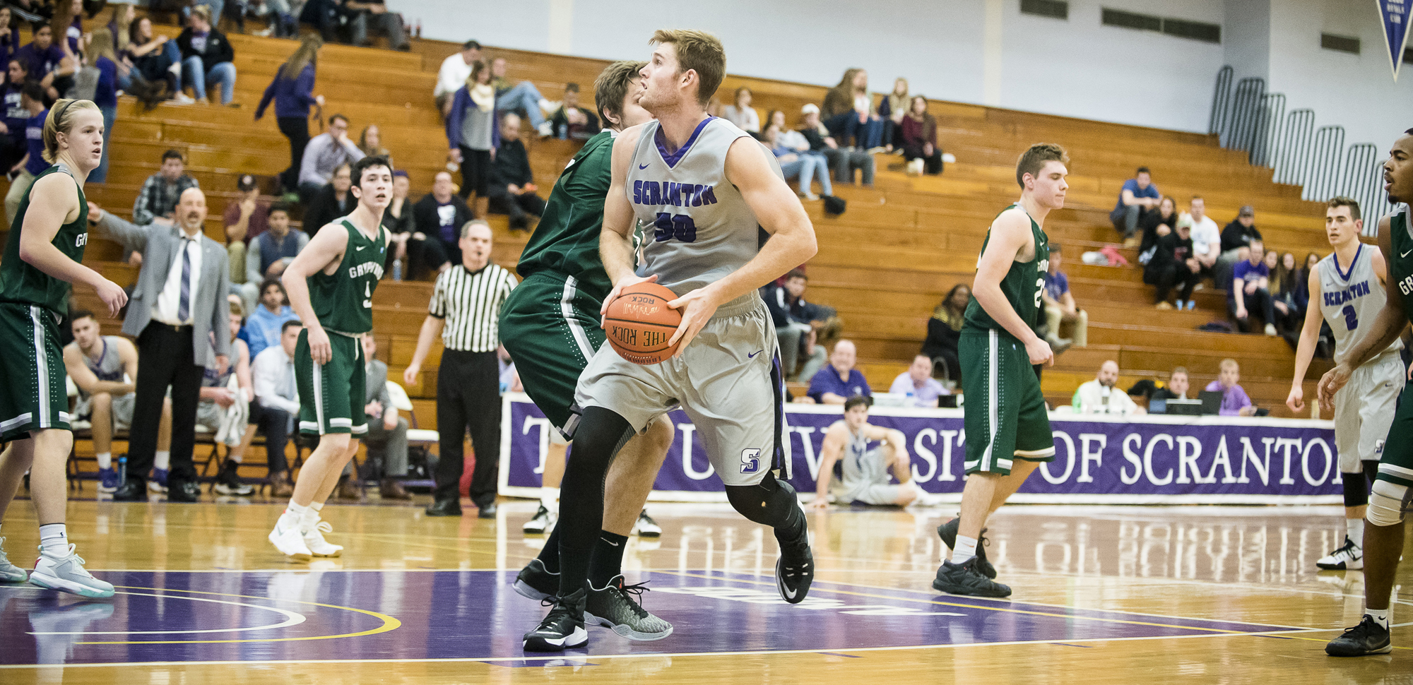 Senior center John Vitkus had 16 points and nine rebounds in Saturday's win at Elizabethtown.