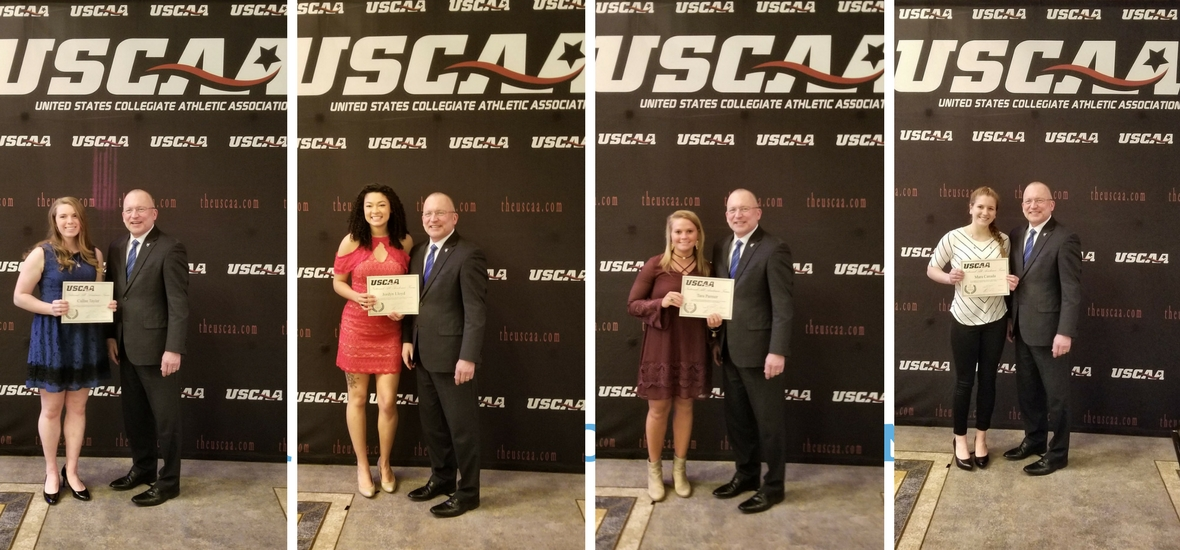Taylor, Lloyd, Parmer, and Canada, Earn USCAA All-Academic Honors