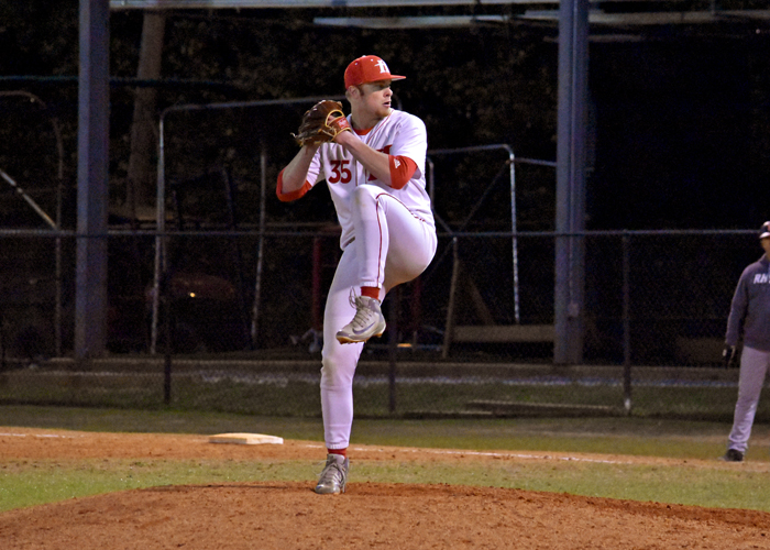 John Crawford earned his fifth save of the season in Friday night's win over Emory.
