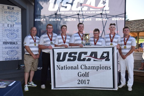Men's Golf Wins USCAA Championship, Herbert Finishes Second After Tiebreaker