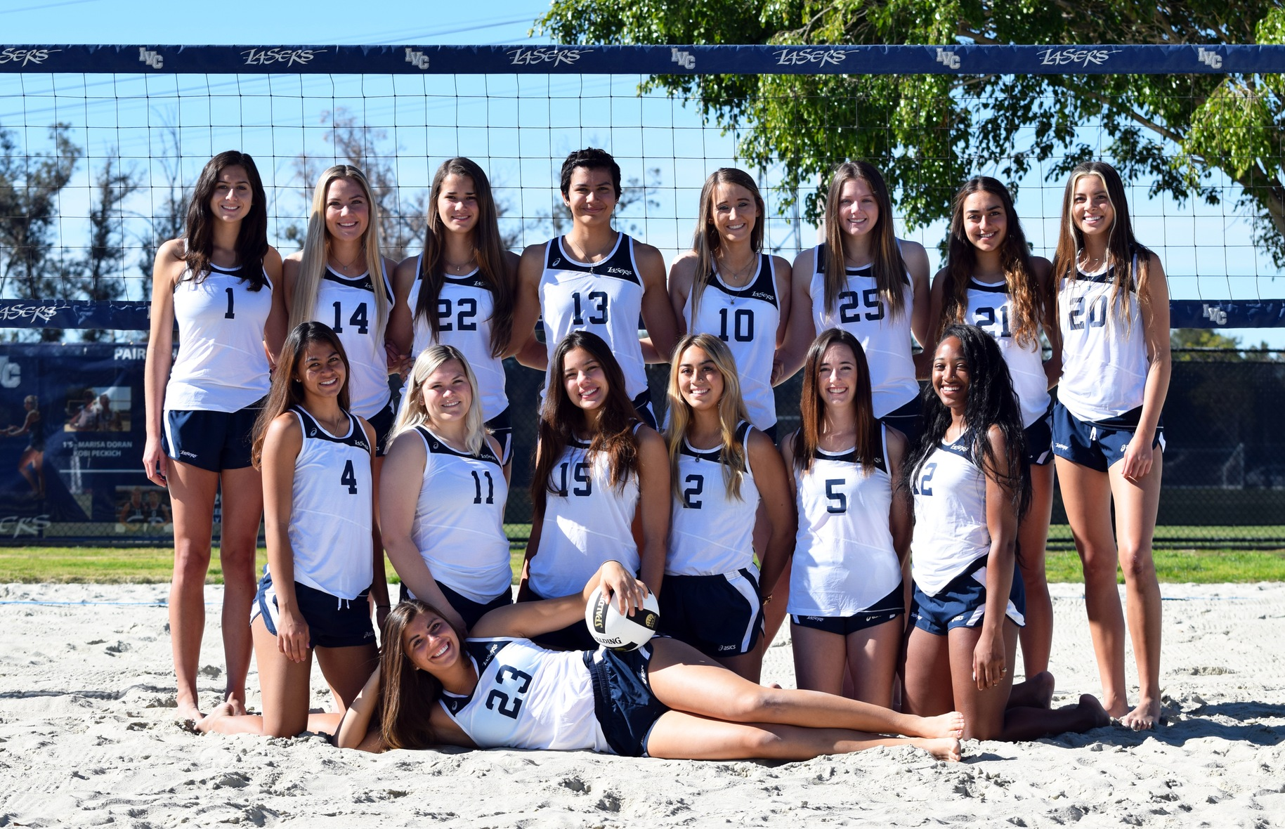 Women's beach volleyball team sweeps three matches at RCC