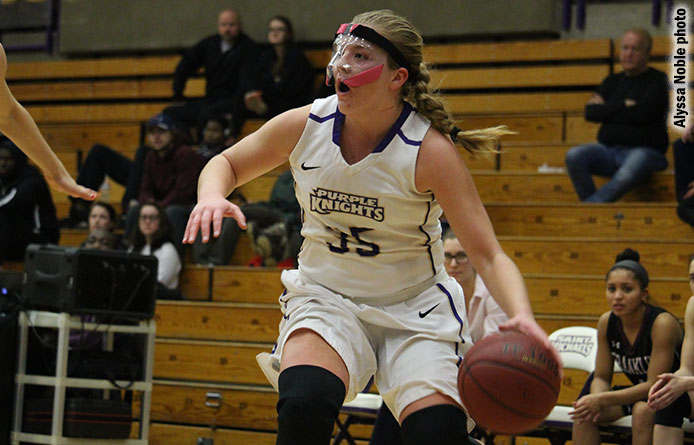Women's basketball rallies past Stonehill, 77-69, during season finale