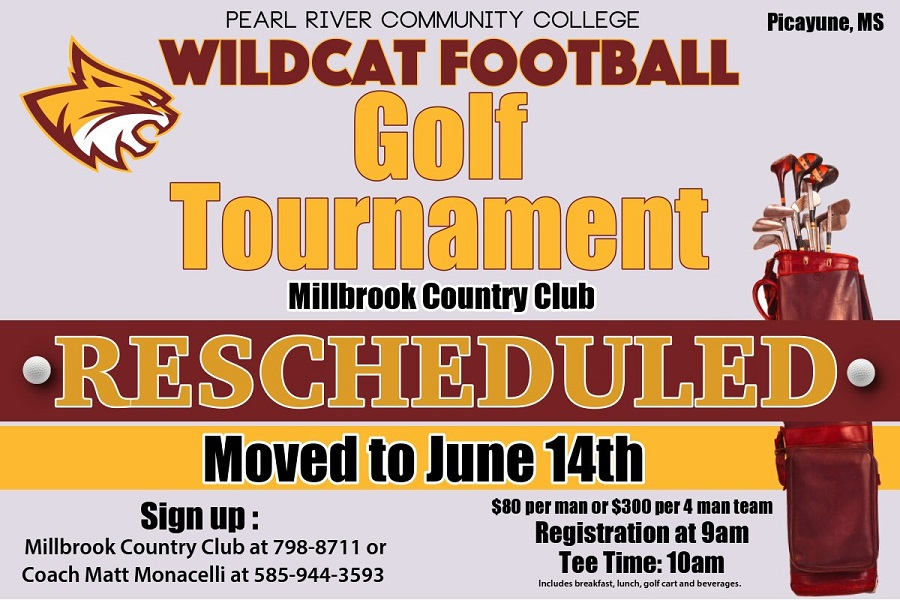 Pearl River football team's golf tournament rescheduled for June 14
