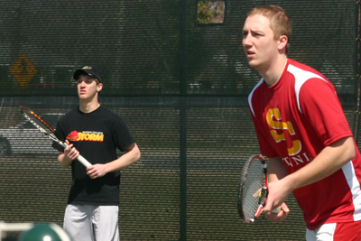 Men's tennis suffers pair of conference losses