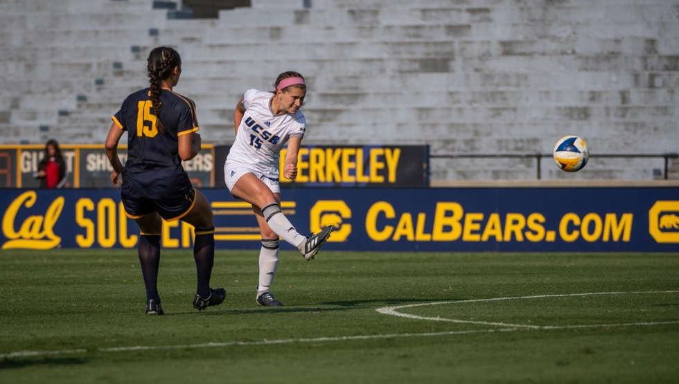 Madeline Gibson scored the equalizer for the Gauchos in the 78th minute. (Photo by Evan Kokoska)