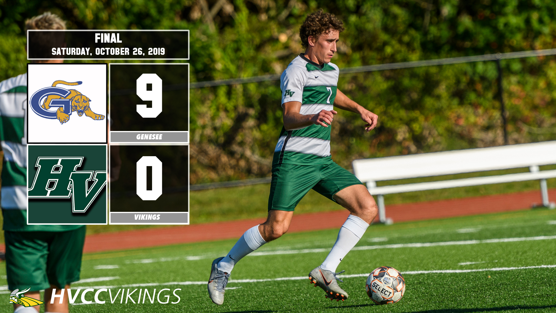 Men's soccer was defeated 9-0 by Genesee on 10/26/2019.