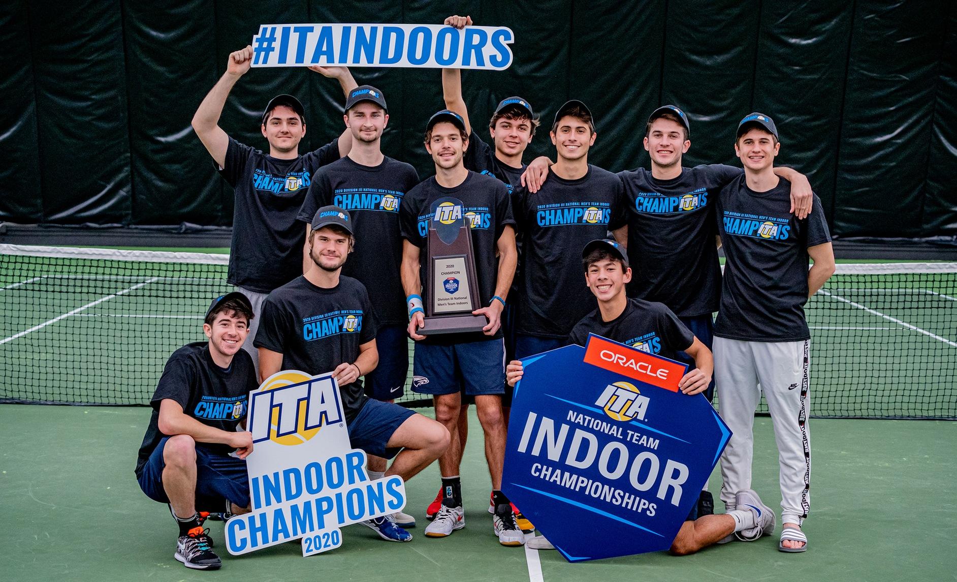 Emory Men's Tennis Defeats Claremont-Mudd-Scripps To Win ITA National Indoor Tirle