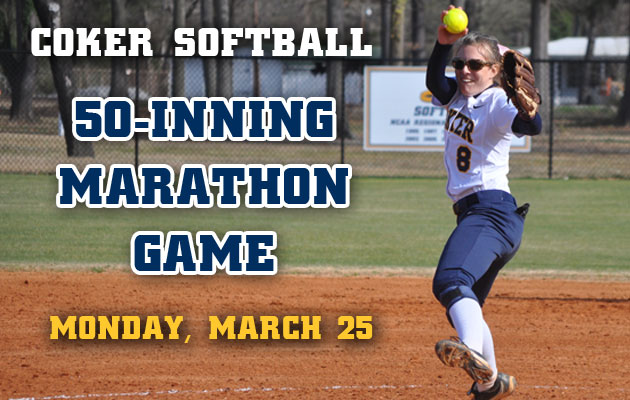 Coker Softball to Host Annual 50-Inning Marathon Game