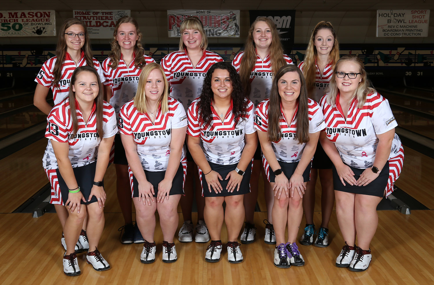 2018-19 Youngstown State bowling team photo