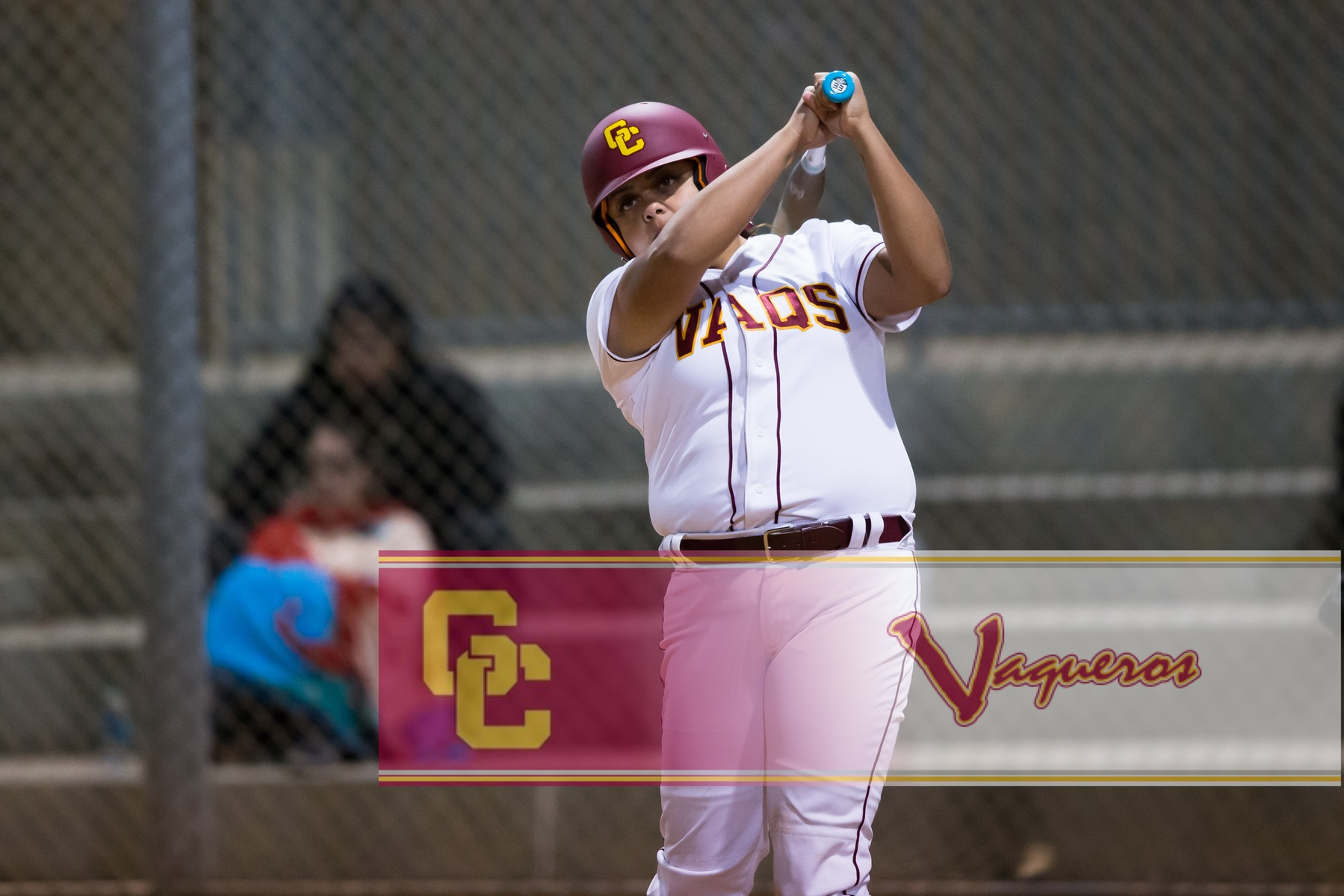 Madison Stillwell Homer's again but Lady Vaqs fall 14-1 to Cerritos.