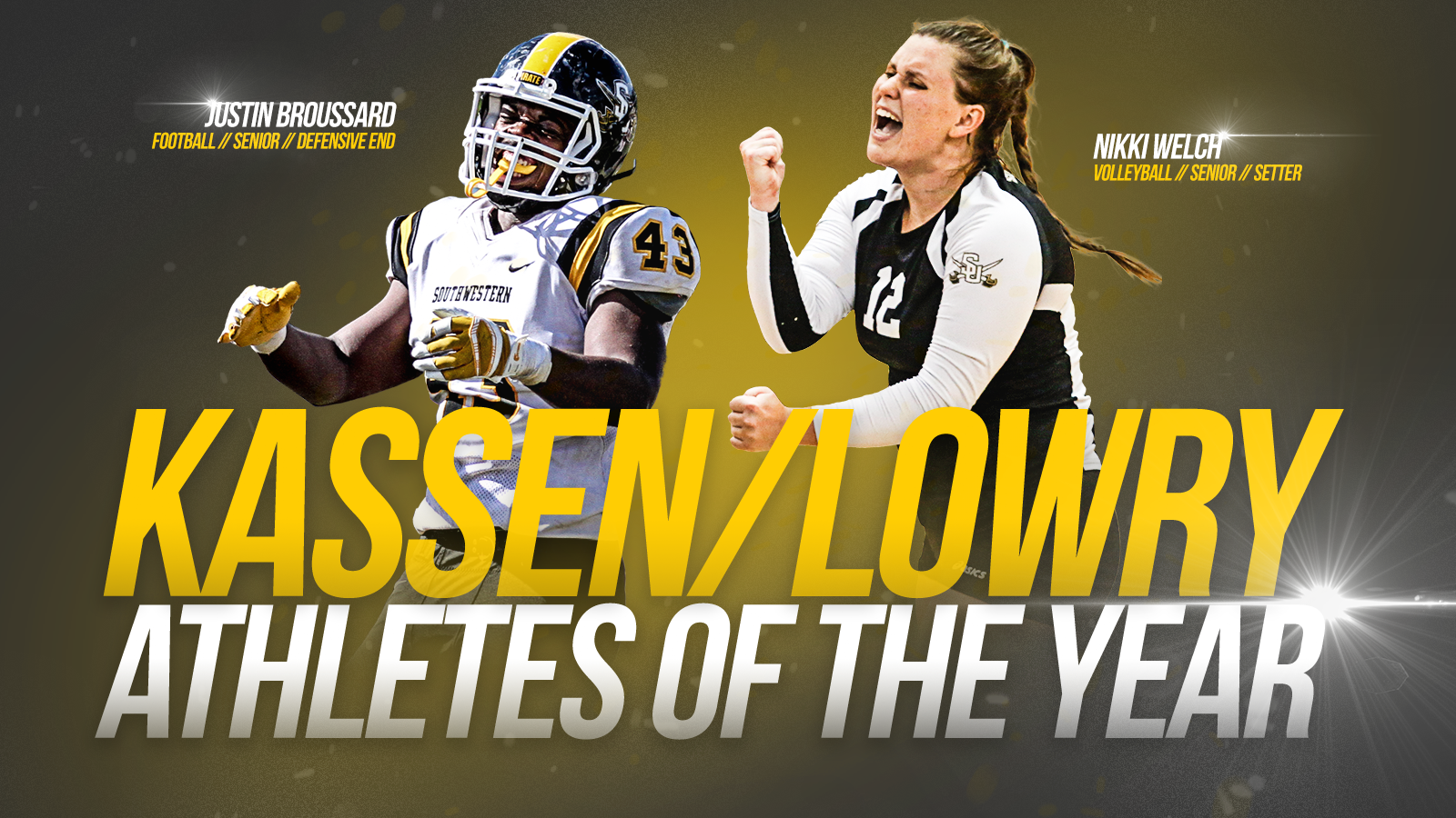 Broussard, Welch named Kassen/Lowry Athletes of the Year