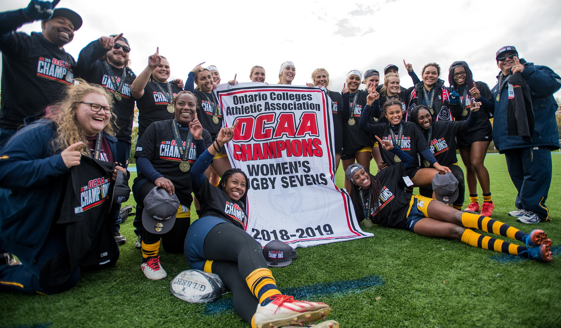 WOMEN'S RUGBY BEATS UNDEFEATED ALGONQUIN FOR OCAA TITLE, 14-5