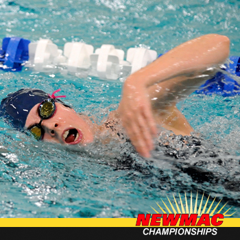 Swimming and Diving Wraps Up Season at NEWMAC Championships