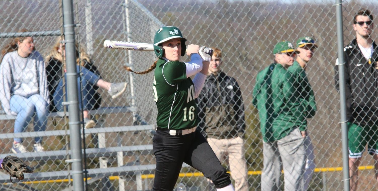 Alexa Brown (16) had two hits in game one for the Wolves -- Photo by Ed Webber