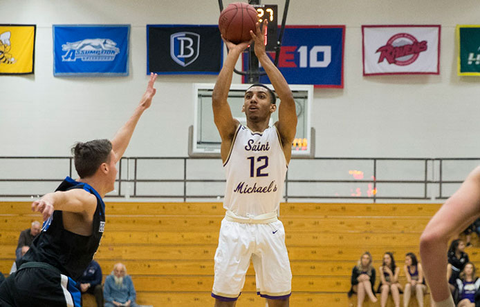 Men's Basketball Has Second-Half Lead Wiped Out in Loss to Regional Power Saint Anselm