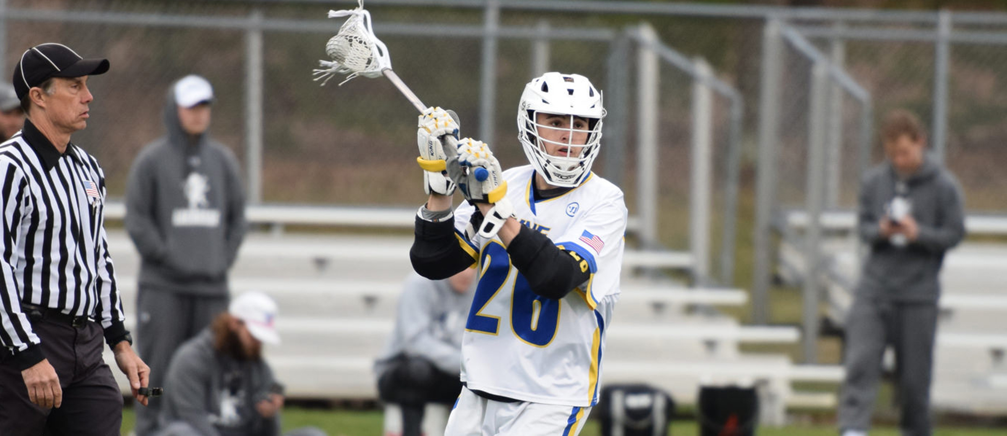 Jared Ward produced a season-high eight points (four goals, four assists) in Western New England's 15-8 win over Wentworth on Sunday. (Photo by Rachael Margossian)