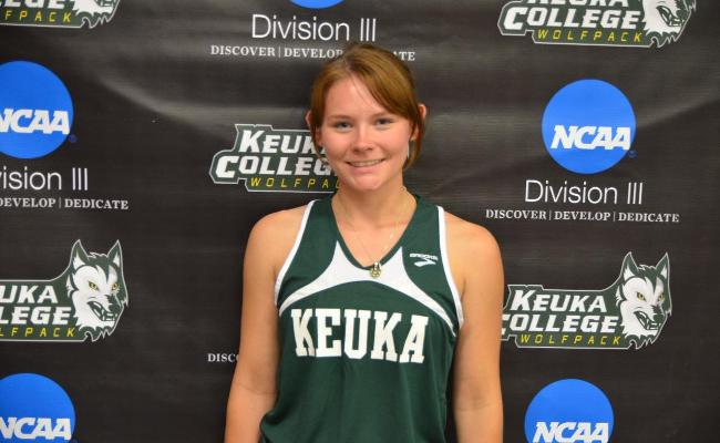 Freshman Chelsea Cooper and the Keuka College women's cross country team placed 12th Saturday during the season-opening Oswego State Invitational.