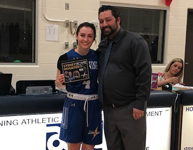 Sydney Deighton reaches 100th game at St. Mary's University