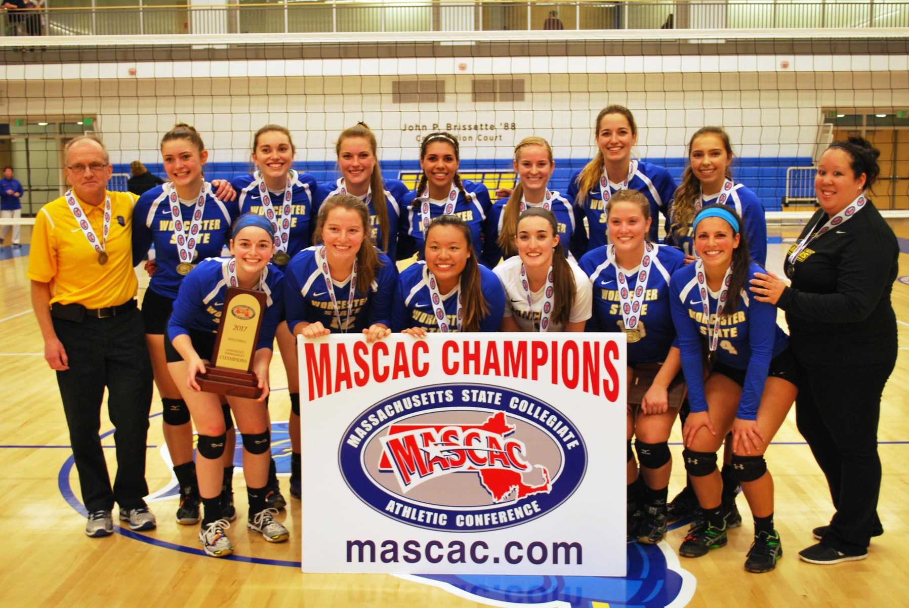 Worcester State Women's Volleyball Claims its First-Ever MASCAC Tournament Championship