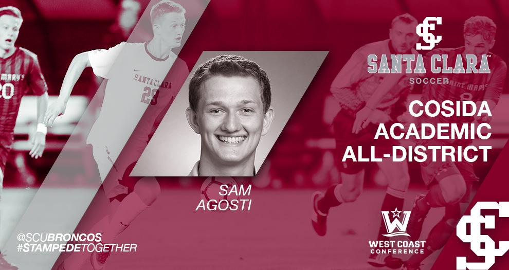 Men's Soccer Sam Agosti Named CoSIDA Academic All-District