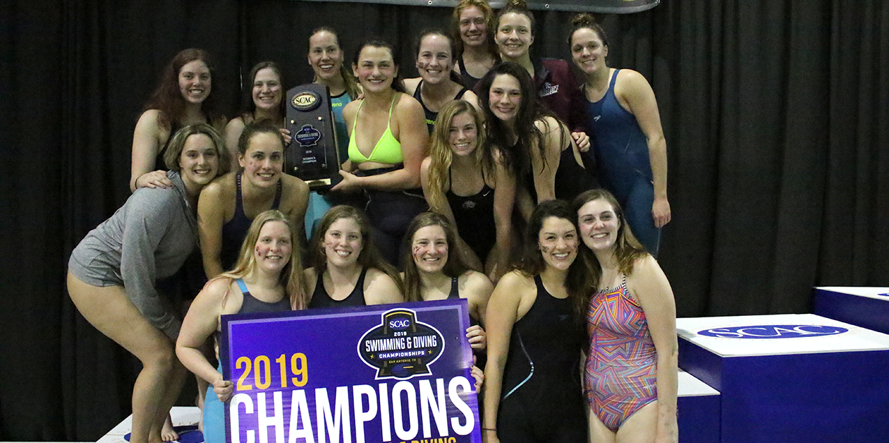 Trinity Takes 16th Consecutive SCAC Women's Swimming & Diving Championship