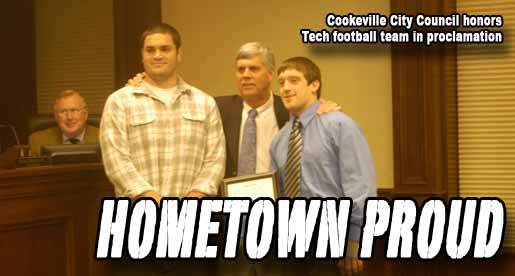 Cookeville City Council honors Golden Eagles, Brown