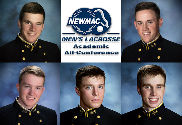 Men's Lacrosse Places Five on NEWMAC Academic All-Conference Team
