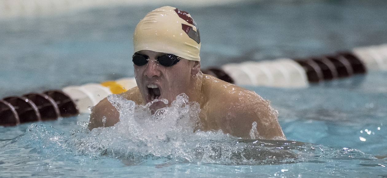 Men's Swimming and Diving Finishes Fifth at NEWMAC Championships