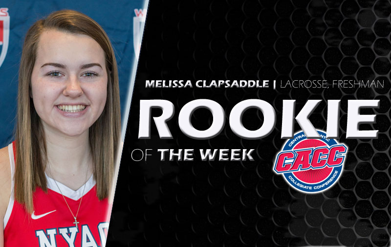 Melissa Clapsaddle Has Been Named CACC Women's Lacrosse Rookie of the Week