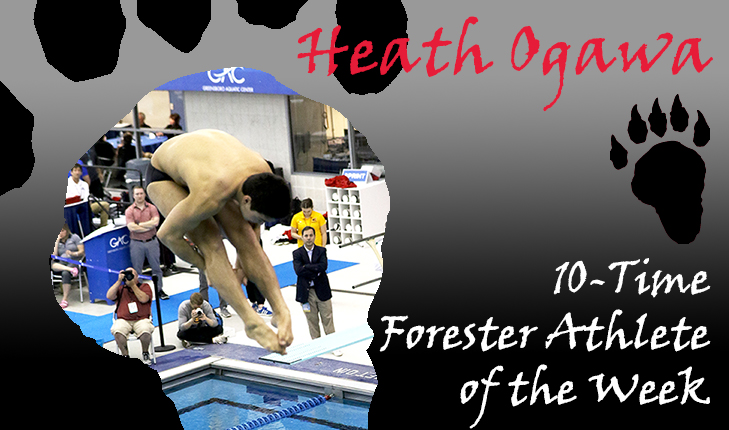 Heath Ogawa Earns 10th Career Forester Athlete of the Week Award