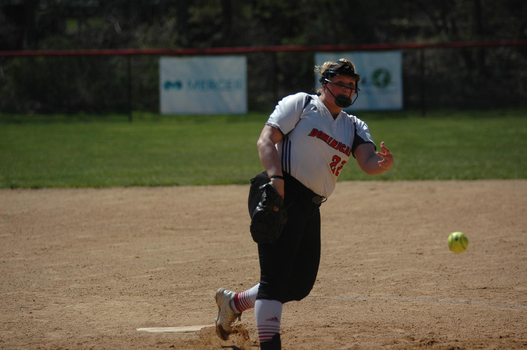 SOFTBALL SPLIT WITH HOLY FAMILY UNIVERSITY