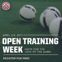 Join us for NSCAA Open Training Week!