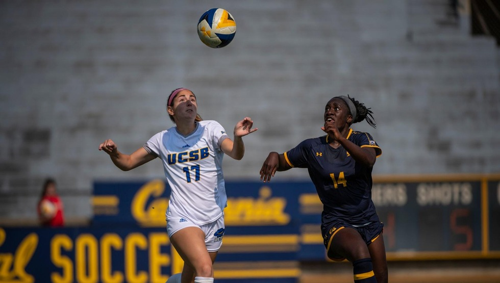Senior winger Jessica Parque doubled the Gauchos' lead in the 44th minute, off of a corner kick from senior left back Ryan Kokoska. (Photo by Evan Kokoska)
