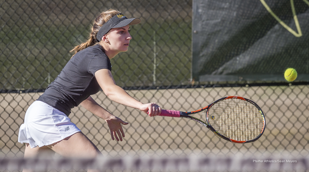 N.C. Wesleyan Downs Pfeiffer Women's Tennis