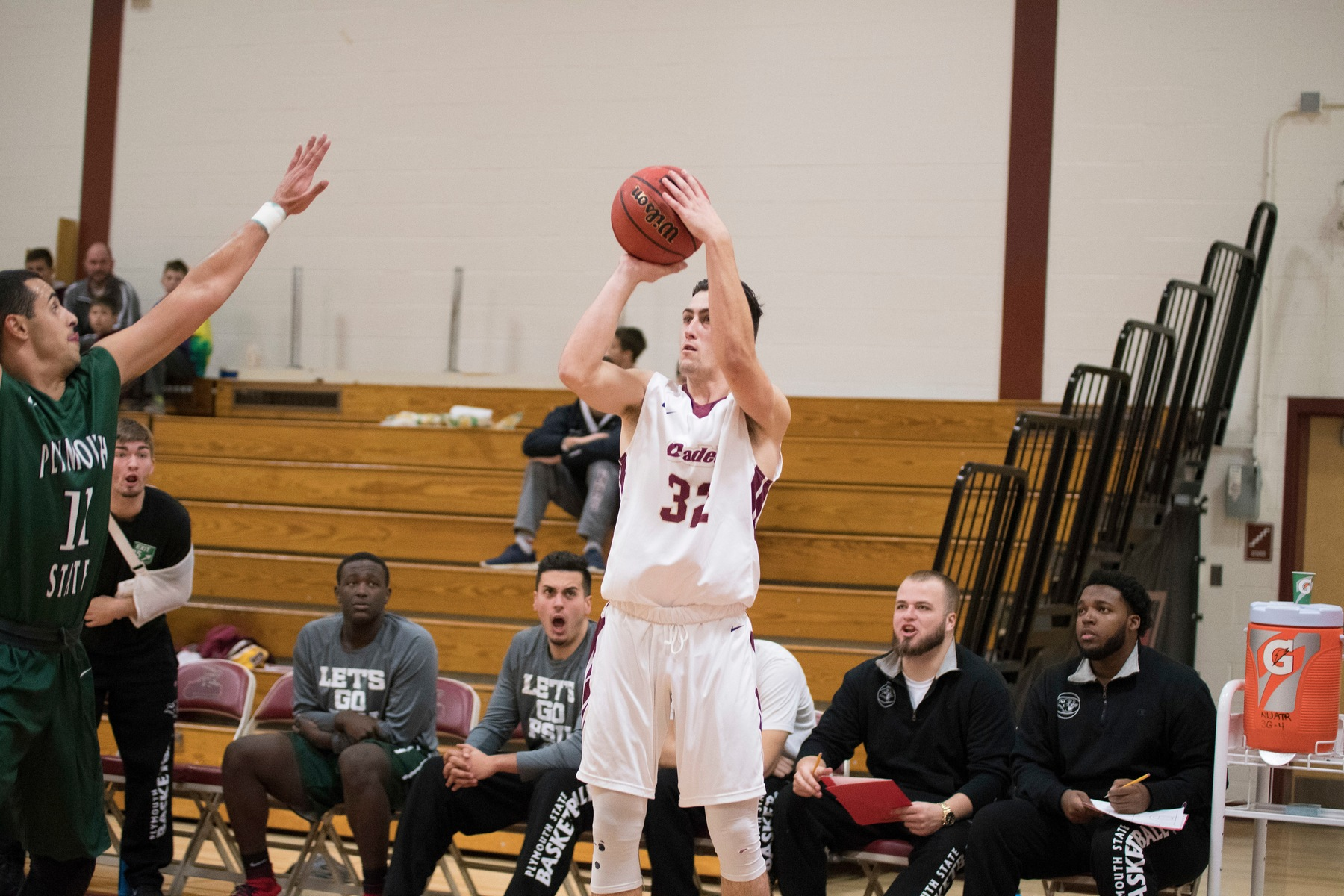 Men's Basketball: Cadets fall on the road to Plymouth State, 84-74