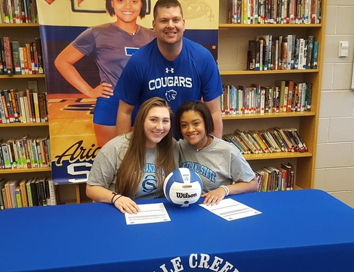 LADY COUGAR VOLLEYBALL INKS CLUB TEAMMATES AS FIRST SIGNEES
