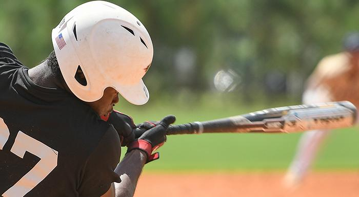 Jaisen Randolph had two singles, two stolen bases, and two runs as the Eagles beat Lake-Sumter 10-2 to start the 2019 season. (Photo by Tom Hagerty, Polk State.)